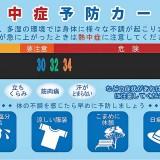 熱中症予防カードの表面の商品写真