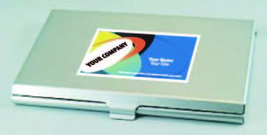 ネームカードケース・ミラー付きの商品名入れ写真・カラー