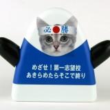 受験生応援グッズ・【めざせ!第一志望校あきらめたらそこで終り】青色