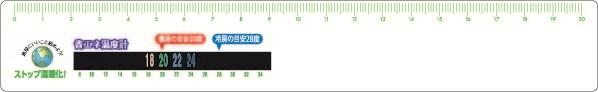省エネサーモ20cm定規の商品画像-ヨコ