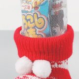 クリスマス・ニットブーツ(お菓子入)
