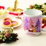 ハッピークリスマスマグカップ
