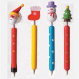 クリスマス木製ボールペン